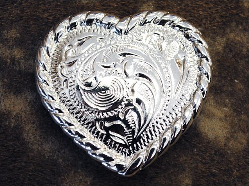 w/ROPE EDGE CONCHO HEADSTALL SADDLE TACK BLING COWGIRL (Shaped Conchos)