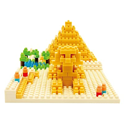 KAWADA NBH-033 Nanoblock Giza's Big Pyramid Building Kit: Toys & Games