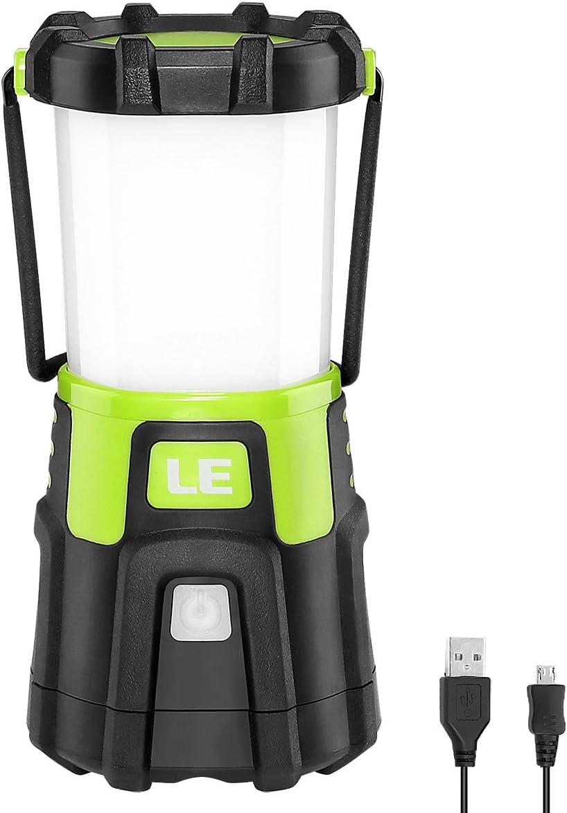 REEXBON Rechargeable Camping Lantern 1200 Lumen LED Lanterne Torch 4000mAh Searchlight Super Bright Projecteur de Poche /étanche pour la Chasse P/êche Randonn/ée Camping