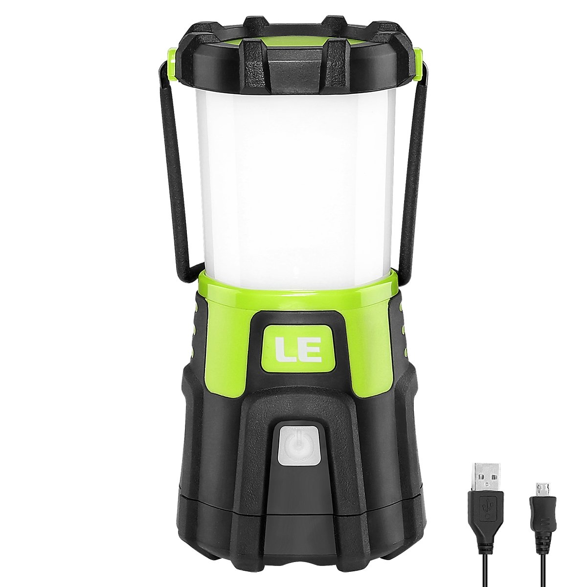 LE Rechargeable LED Camping Lantern, Portable, Dimmable, Adjustable Color Temperature and Brightness, USB Output Power Bank for Outdoor Activities, Camping, Hiking, Emergency and More