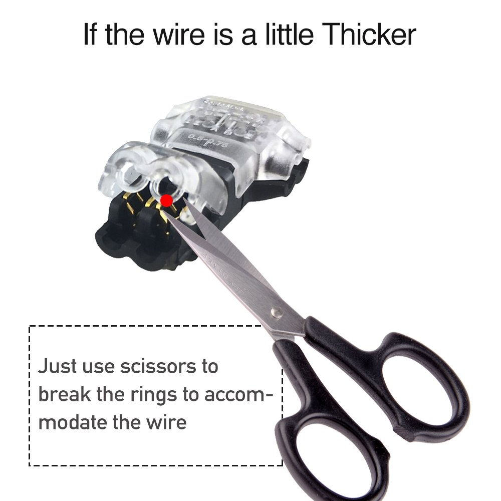 Wire Connectors Pack Of 12 Low Voltage T Tap Indian Motorcycle Trailer Wiring Harness Type 2 Pin Solderless No Stripping Required For Mid Span Branching In Wires