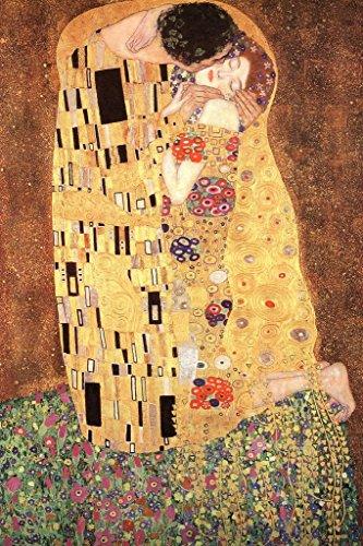 Gustav Klimt The Kiss 1908 Austrian Symbolist Art Nouveau Print Mural Giant Poster 36x54 inch ()