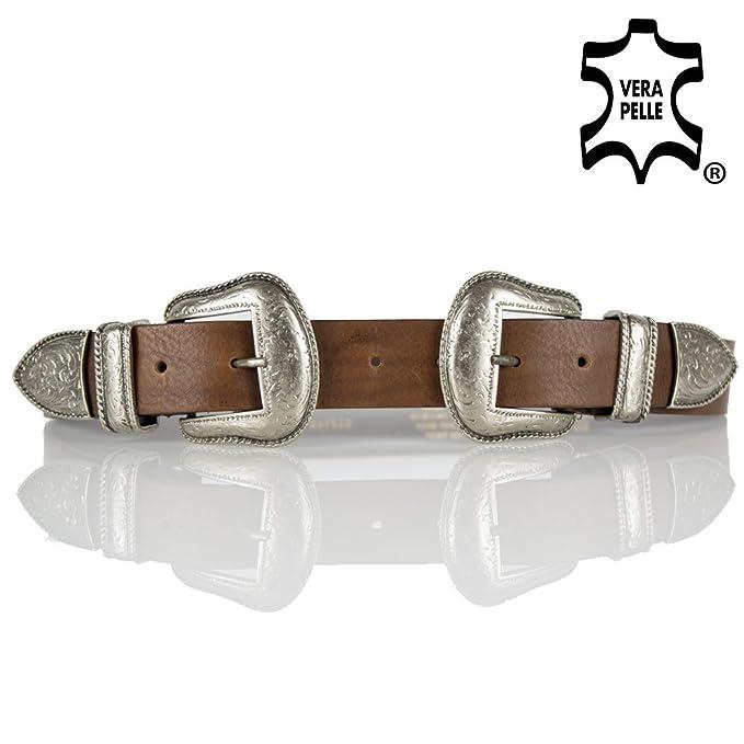 negozio online reputazione prima amazon Cintura doppia fibbia donna pelle cowboy stile texas cinta ...