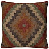 Rizzy Home Decorative Southwest Cover Only Throw Pillow, 18'' x 18'', Multi