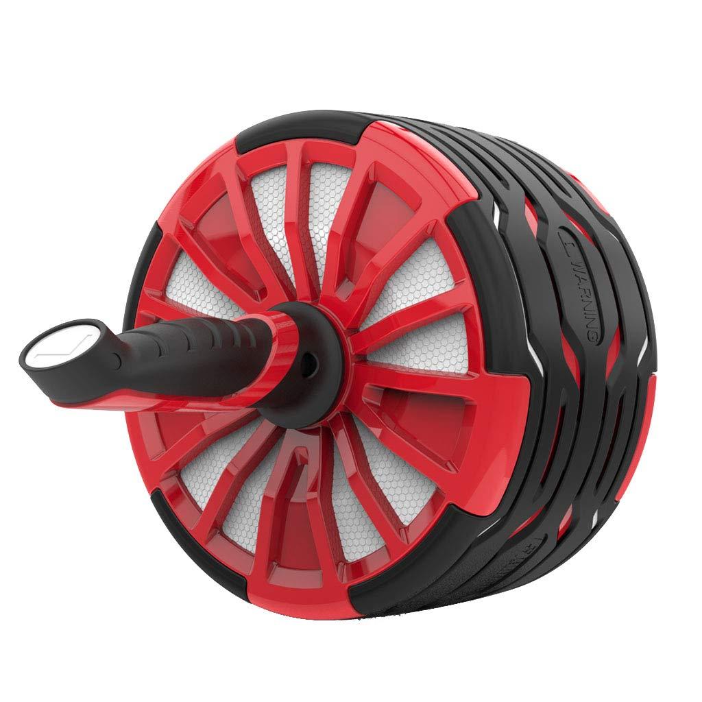 Bauchtrainer Abdominalrad Home Bauchmuskelrad Bauchfitnessgerät Dünner (Farbe : ROT, Größe : 40  20cm)