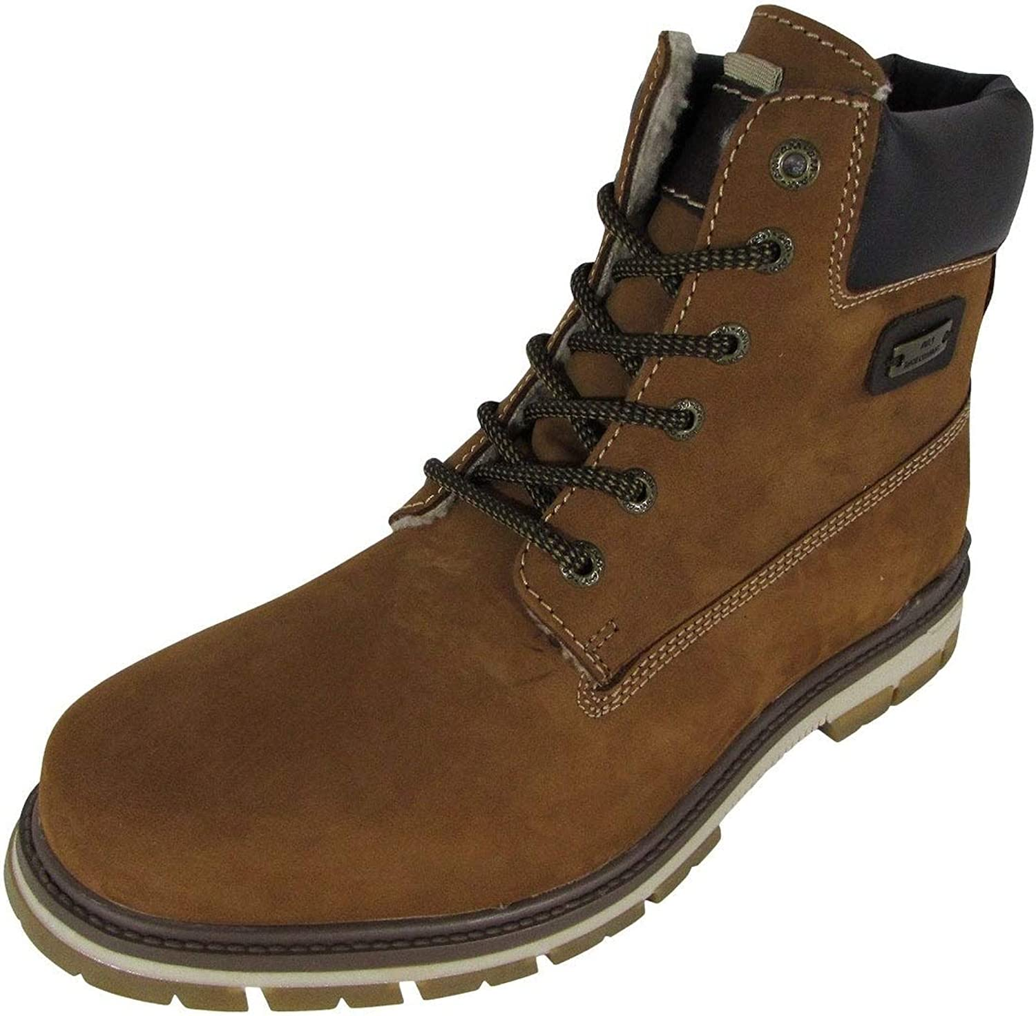 AM Shoes Mens Casual Lace Up Work Boot Shoes