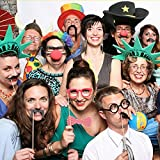 FEELING WELL DIY Photo Booth Props 44 Pieces for Wedding Party Reunions Birthdays Dress-up Accessories, Costumes with Mustache on a stick, Hats, Glasses, Mouth, Bowler, Bowties