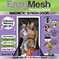 EazyMesh Polyester Mesh Magnetic Screen Door with Full Length Sewn in Velcro Seals, 36 x 83-Inches from EazyMesh