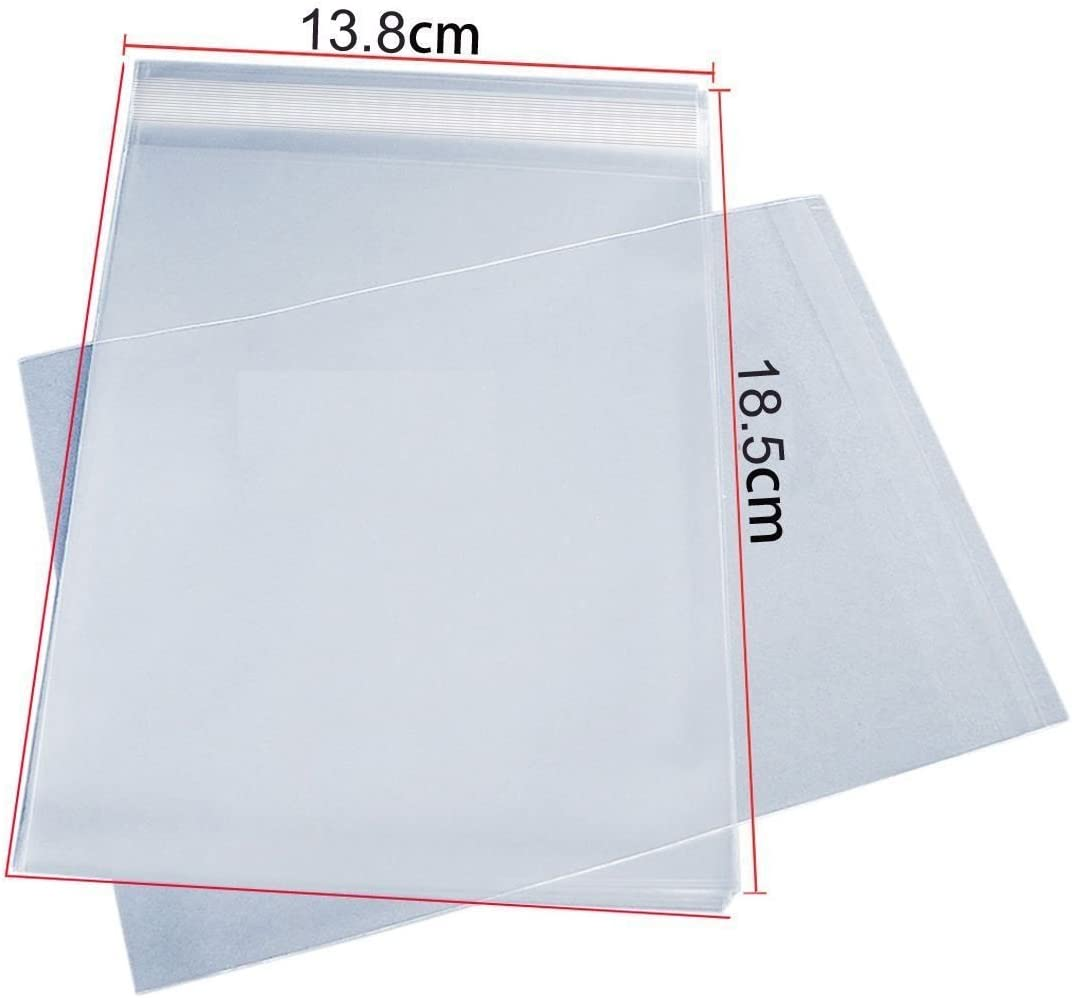 DL Self Seal Greetings Card Cellophane Display Bags by Cranberry Pack of 50