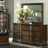 Homelegance Brompton Lane Dresser & Mirror w/Two Hidden Drawers in Cherry - (Dresser Only)