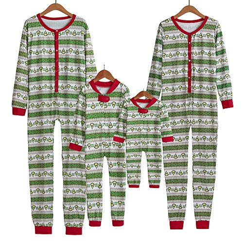 (Seaintheson Family Matching Christmas Pajamas Set, Xmas Onesie PJs Sleepwear Jumpsuit Family Clothes Outfits)