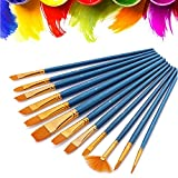 Nylon Hair Painting Brush 10 Pieces Set With 3 Pcs