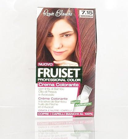 Crema Colorante fruiset – 7.15 color marrón avellana: Amazon ...