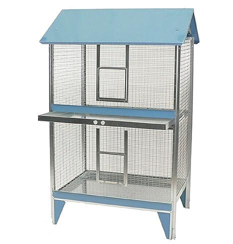 Jaula para pájaros rectangular con dos pisos - ModeloHerrerillo ...