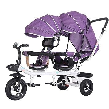Amazon.com: Cochecitos dobles, cochecito de bebé de viaje ...