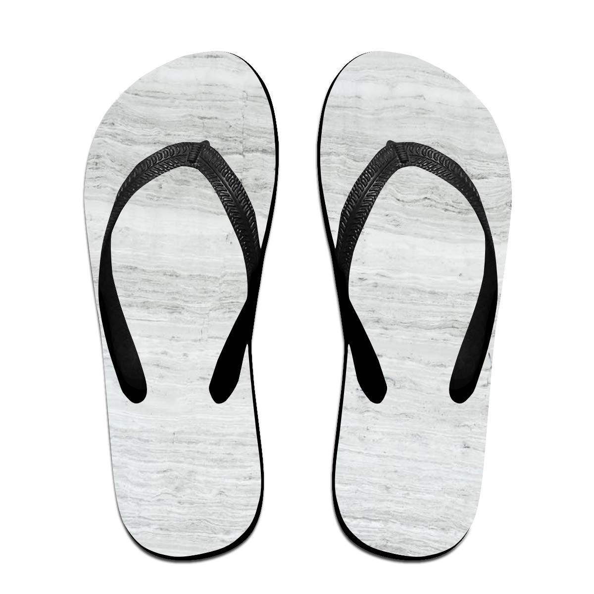 9ea3d01ec1691 Amazon.com: White Marble Men's And Women's Flip-flops Summer Beach ...