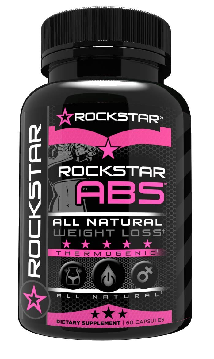Rockstar Abs Targeted Fat Burner, Skinny Gal Weight Loss for Women, 1 Thermogenic Diet Pill and Fast Fat Burner, Carb Block & Appetite Suppressant, Weight Loss Pills, 60 Veggie Cap by Rockstar