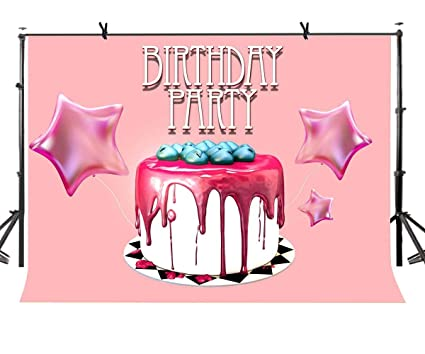 EdCott 7x5ft Feliz cumpleaños Telón de Fondo Pastel Tienda ...