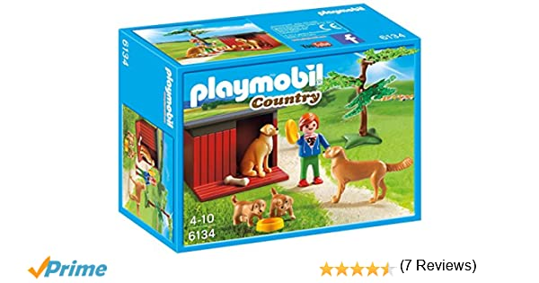 Playmobil- Golden Retrievers with Toy, Color, única (6134): Amazon.es: Juguetes y juegos