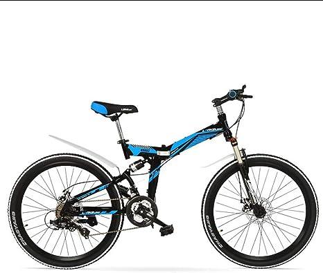 AISHFP Plegable Bicicleta de montaña para Adultos, Doble Freno de ...