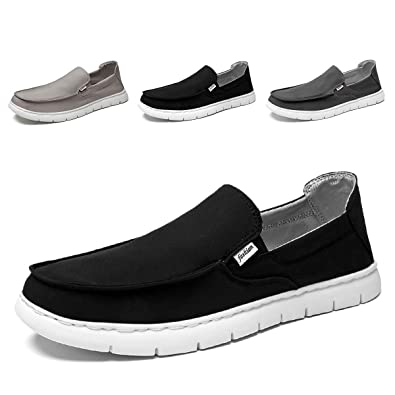 good texture uk cheap sale factory outlets Amazon.com | SONLLEIVOO Mens Slip On Casual Shoes Wide Width ...
