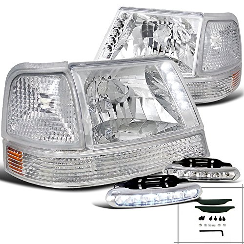 Ford Ranger Chrome Headlight+Clear Corner Parking Lamp+LED Fog - Clear Ranger Ford Corner