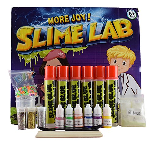 Homemade Halloween Science Experiments (Slime Kit by CT-Toys - DIY - Includes Glow in the Dark Powder, Colorful Balls, Glitter, Instructions and Measuring Cups - Boys and Girls - Educational Gift)