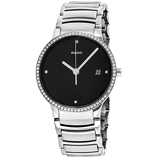01985e28c0 Rado Centrix Stainless Steel & Diamond Mens Watch Quartz Calendar Black  Dial R30630713: Amazon.co.uk: Watches