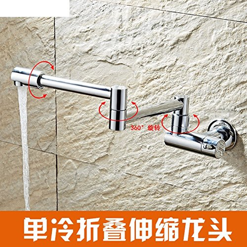 K Hlluya Professional Sink Mixer Tap Kitchen Faucet Extension taps into the wall redate single cold laundry pool and the pool water taps,K