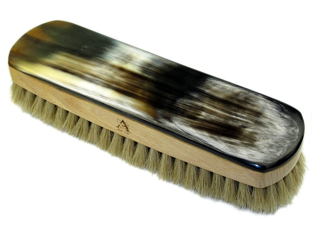 Abbeyhorn Luxury Polishing Brush with real horn and Boar bristles (Natural)