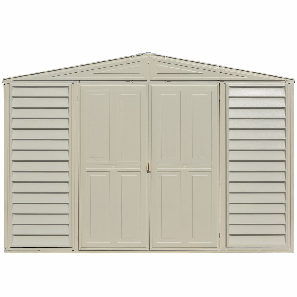 Amazon com duramax woodbridge 10 5 x 5 shed with foundation kit garden outdoor