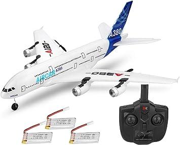 RC Aviones 510 mm Wingspan Glider 3 CH 2.4 GHz DIY EPP Control Remoto Avión Juguete Integrado 6-Axis Gyro A120-A380 Principiante Control Remoto Plano con 3 Pieza Batería: Amazon.es: Juguetes y juegos