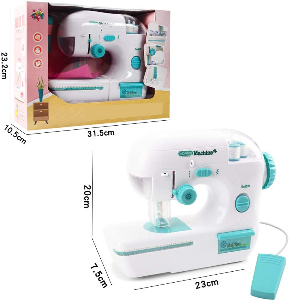 Battery Powered Portable Sewing Machine-Easy to Use Ewendy Desktop Sewing Machine for DIY Home Craft