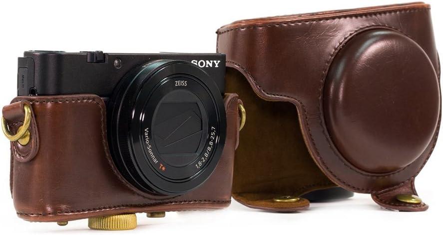 Funda de piel sintética para cámara Sony RX100 RX100II RX100III M3 ...