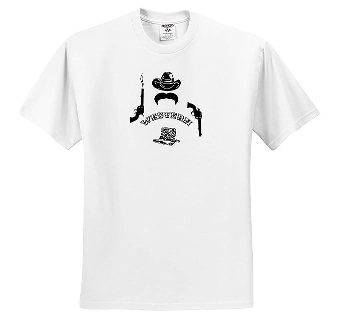 Western T Shirt Designs | Amazon Com 3drose Alexis Design Funny Cowboy Hat Mustache