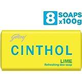 Cinthol Lime Soap, 100g (Pack of 8)