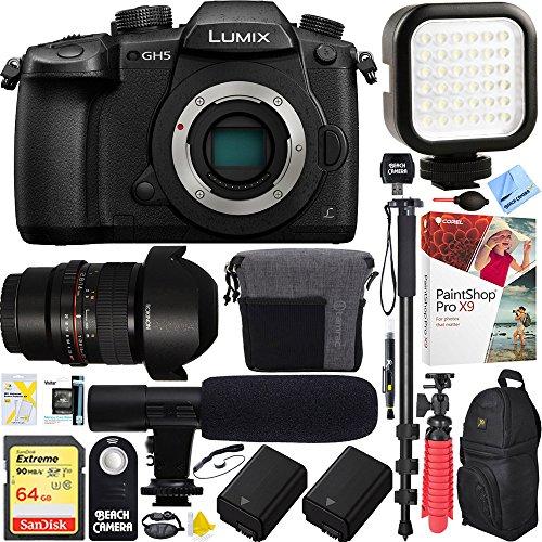 Panasonic LUMIX GH5 20.3MP 4K Mirrorless Digital Camera with