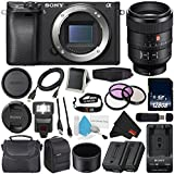 Sony Alpha a6300 Mirrorless Digital Camera(Body Only) (International Model) No Warranty FE 100mm f/2.8 STF GM OSS Lens + 72mm 3 Piece Filter Kit + NP-FW50 Replacement Lithium Ion Battery Bundle