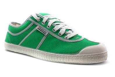 Kawasaki Zapatillas Para Mujer con Cordones, Ribete Gris, Talla 36, Color Verde: Amazon.es: Zapatos y complementos