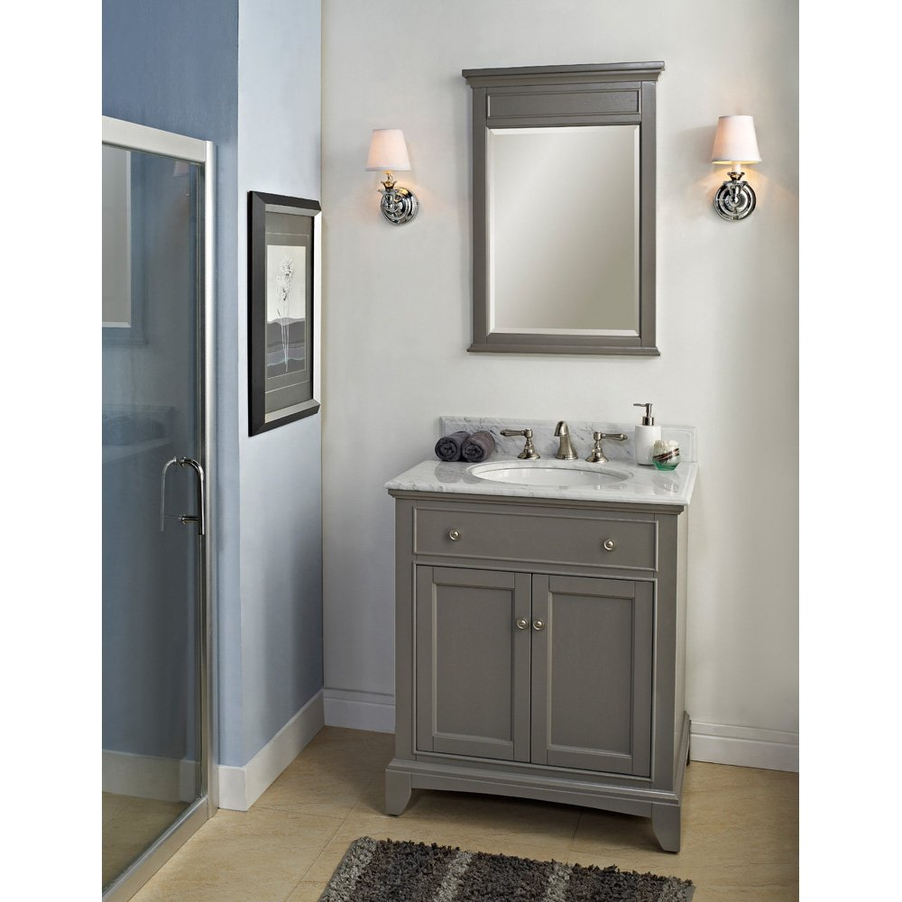 bathroom vanity grey. Fairmont Designs 1504 V30 Smithfield 30  Vanity Medium Gray Bathroom Vanities Amazon com