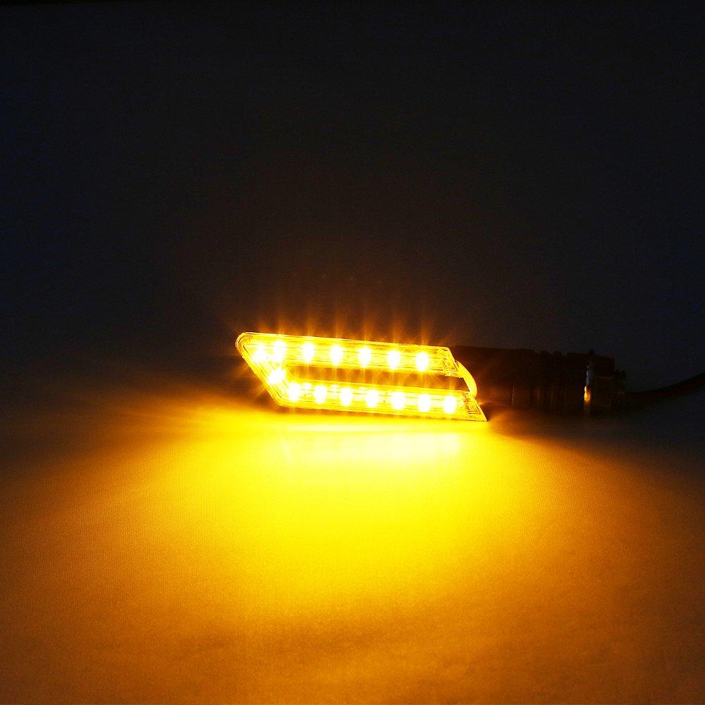 OSAN U-Type Clignotant 16 LED Clignotants Feux Indicateurs