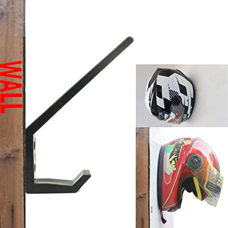 Amazon.com: Invisible Helmet Rack Helmet Wall Display Rack ...