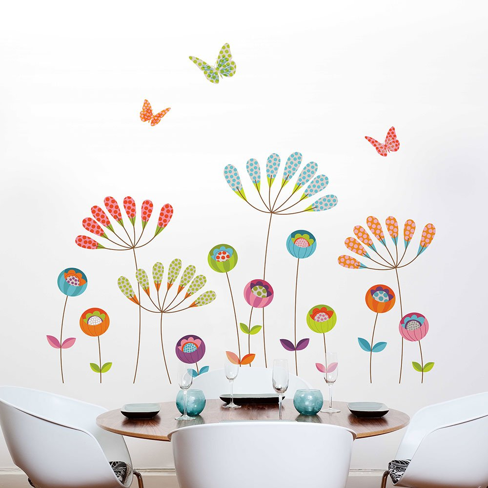 Adzif''Colourful Pompoms Wall Decals Multi