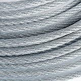 5/16'' 9800lb Galvanized Aircraft Cable Steel Wire Rope 7x19 (800 Feet)