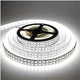 LEDENET Cold White 5M Double Row 3528 SMD 1200LEDs Flexible Strip Tape Light 240LEDs/M Ribbon Lamp DC 12V 16.4Ft (Cold White