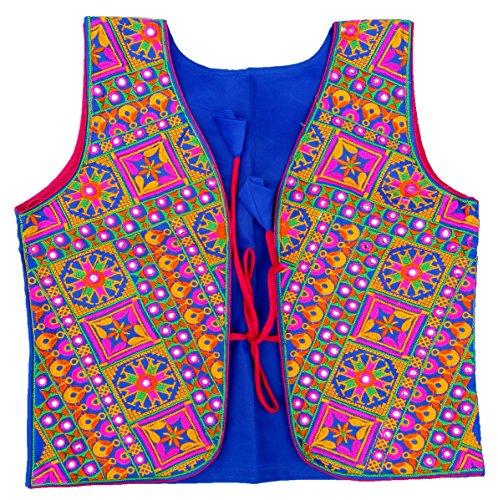 Vintage-Embroidered Top-Jacket-Fashion Wear Vest-kutch Indian Mirror Work Koti (Mirror Embroidered)
