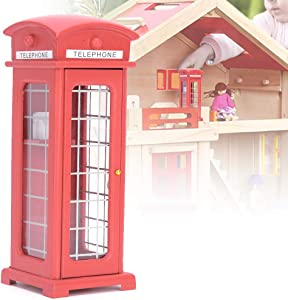 Yinuoday Dollhouse Accessories, 1:12 Scale Miniatures Dollhouse Furniture for DIY Dollhouse Living Room Mini Toy Wood Phone Booth for Livingroom Bedroom Simulated Accessory