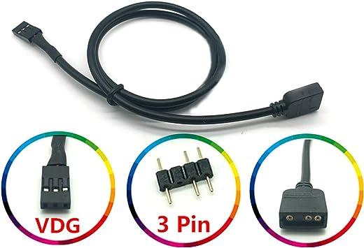 LICHIFIT 5 V 3 Pines RGB VDG Cable de conversión Conector para Placa Base GIGABYTE: Amazon.es: Electrónica