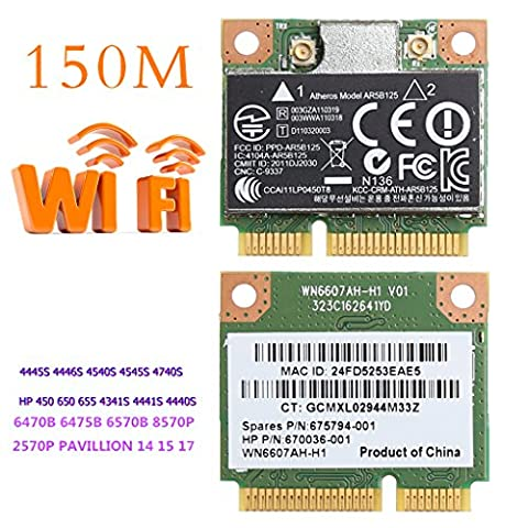 Eastsun Portable WiFi Wireless PCI-E Card For Atheros AR5B125 SPS 675794-001 HP PN 670036-001 (Hp Atheros)