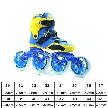 MLSS LI Zapatos De Patinaje De Velocidad Zapatos De Carreras Adultos Niños Y Niñas Profesionales Patines